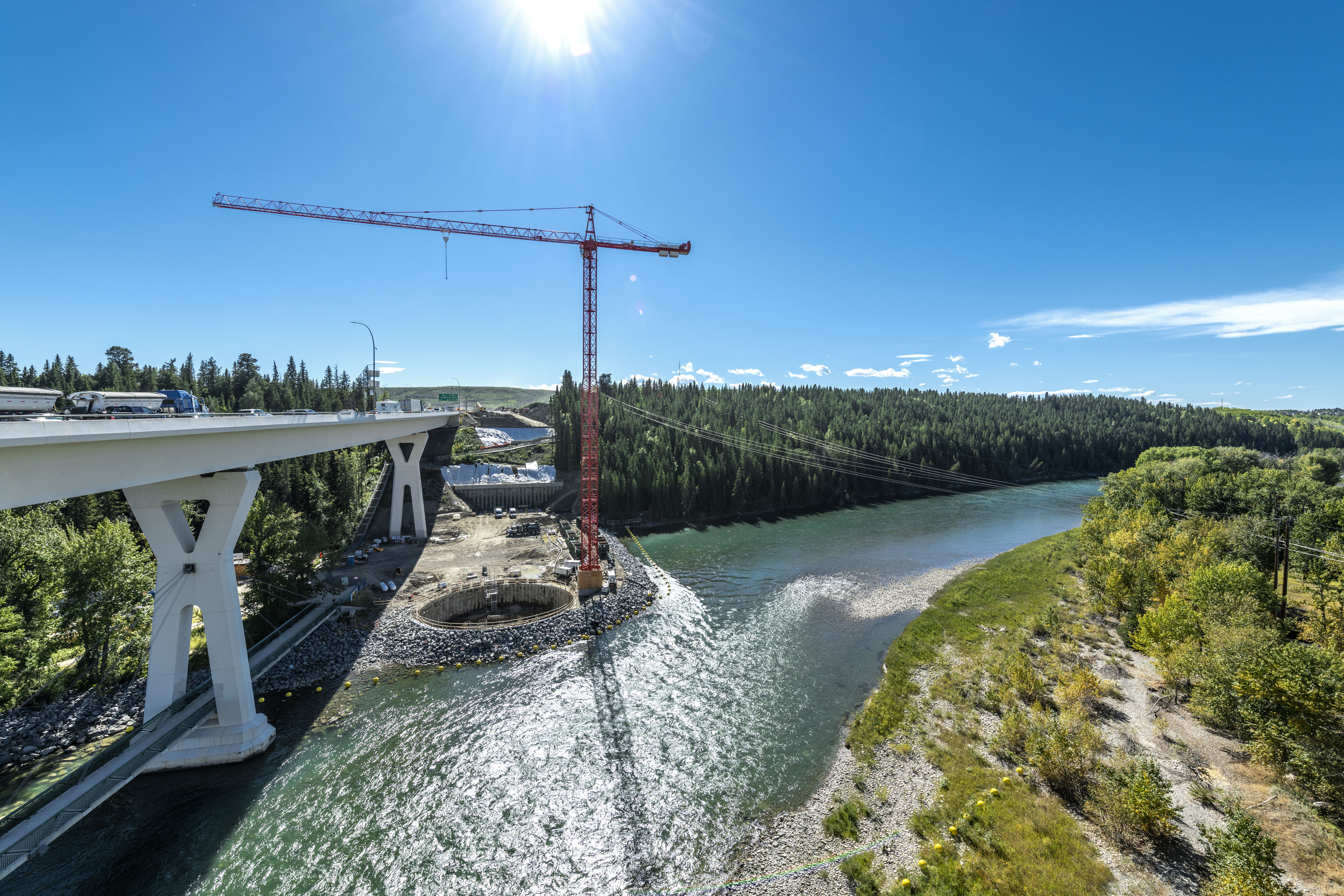 Bow River Twinning Project landscape view