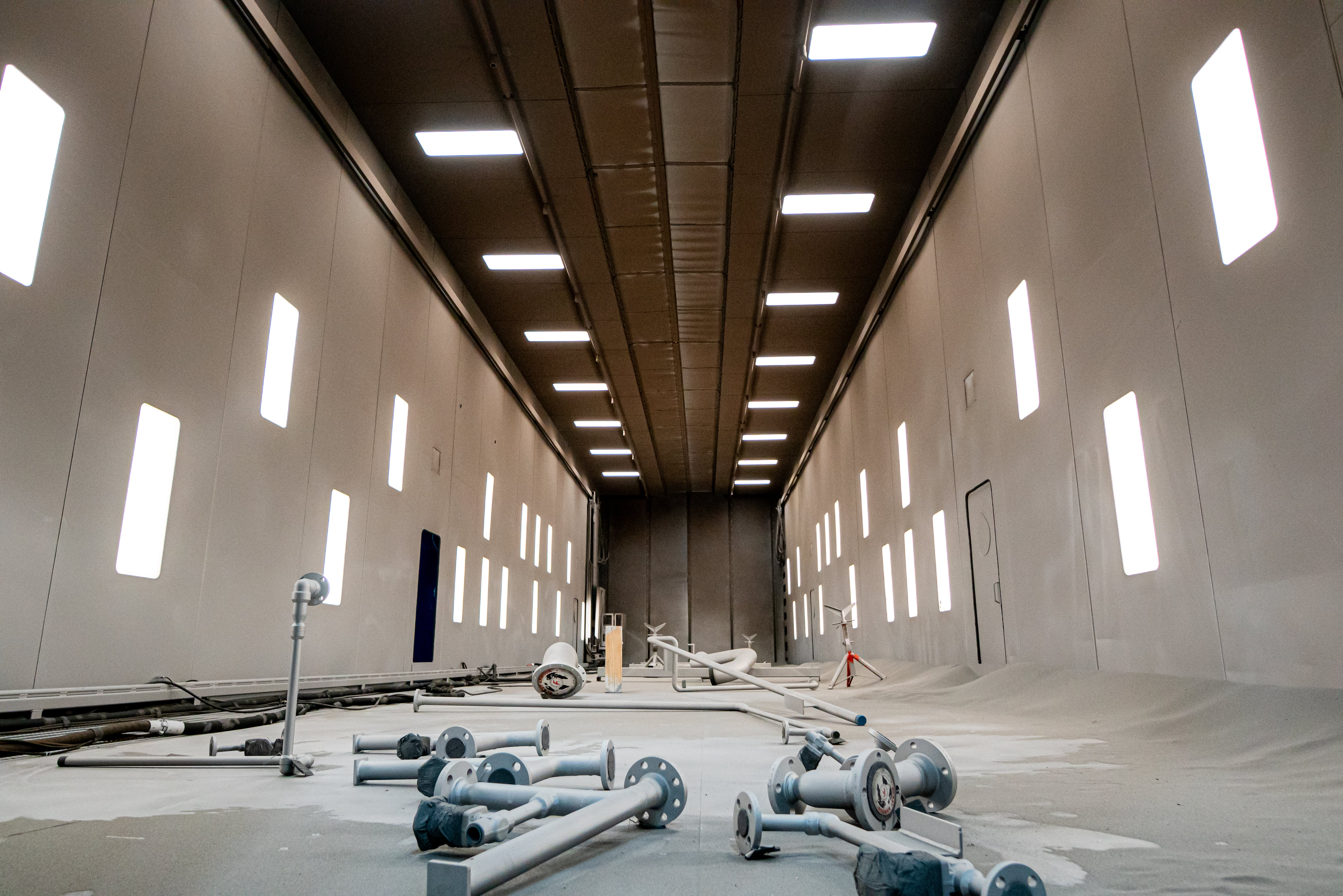 Interior of the Blasting and Coating Facility