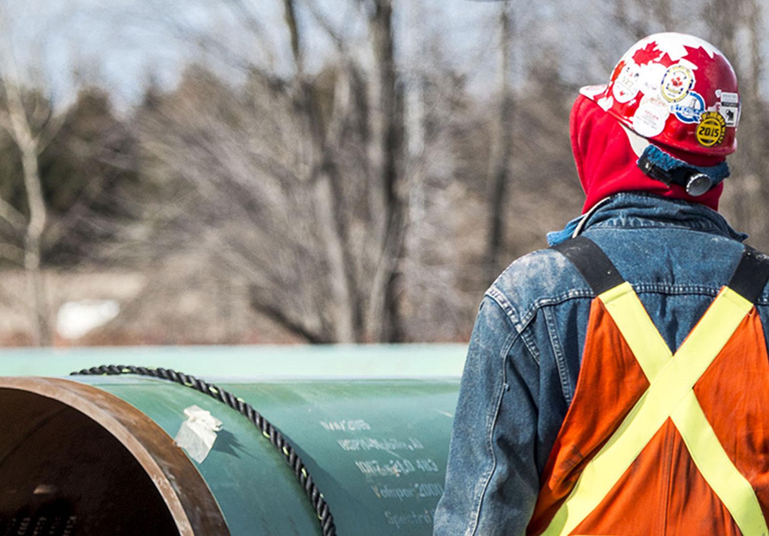 Coastal Gaslink Pipeline Worker Hardhat
