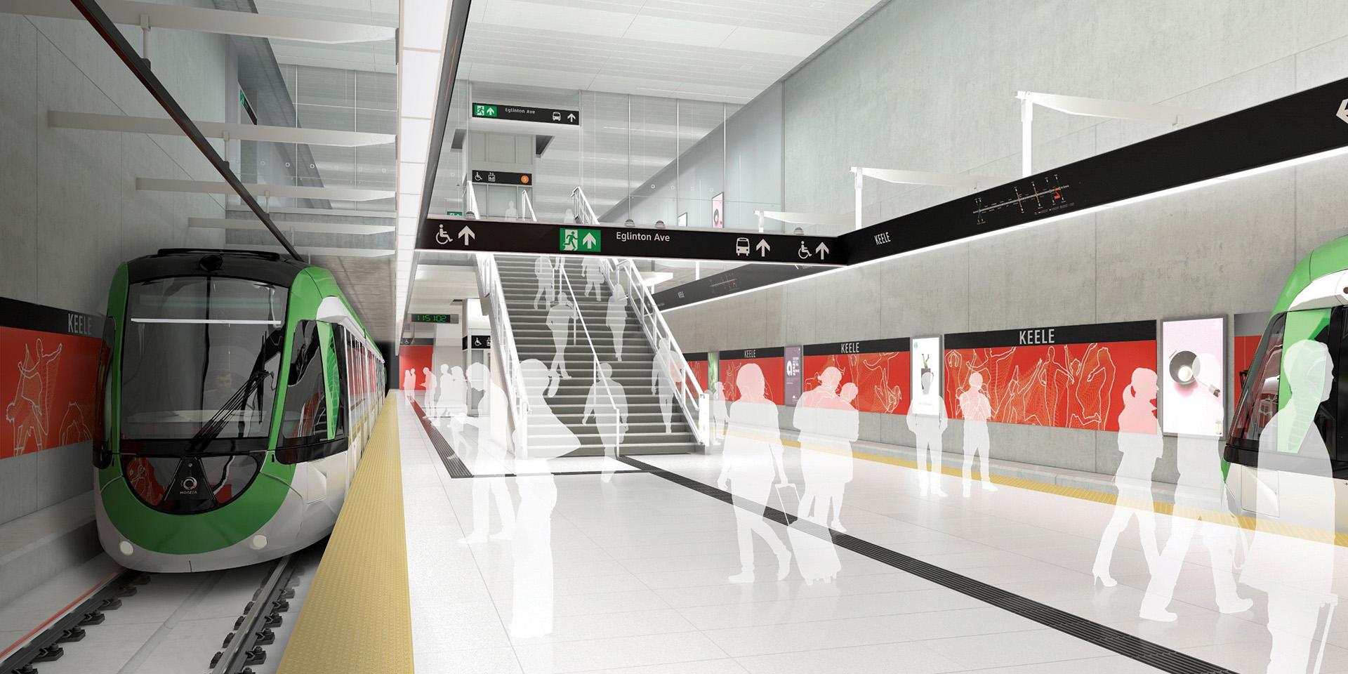 Keele Interior Platform Rendering