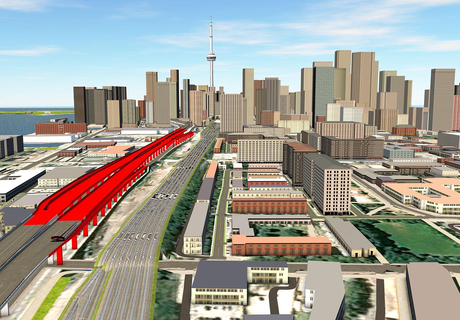 Gardiner Expressway Rendering