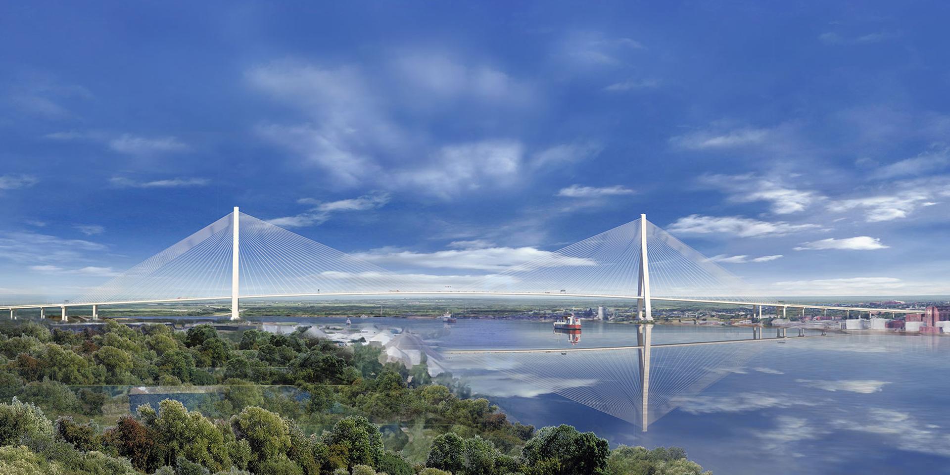 Gordie Howe Bridge Landscape Rendering