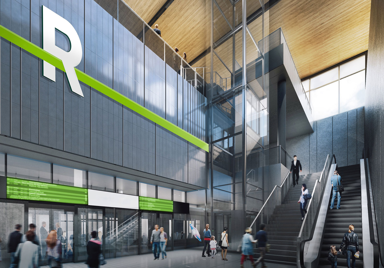 REM Station Interior Rendering