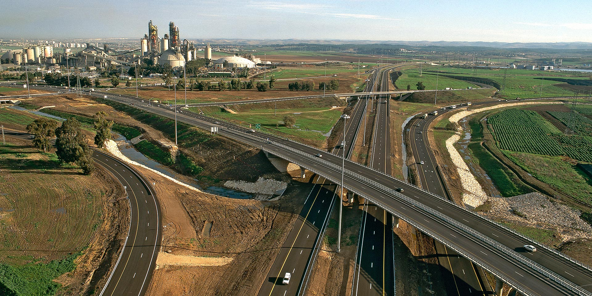 Cross Israel Highway Landscape