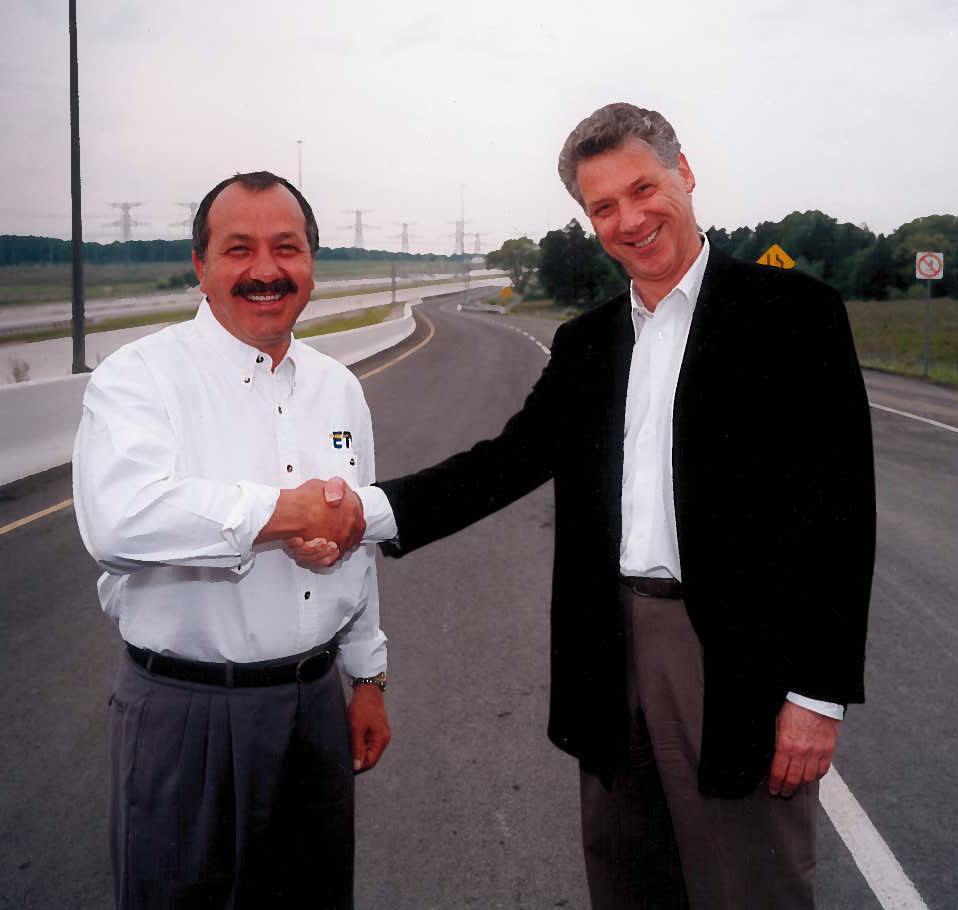 John Beck and Al Palladini at Hwy. 407